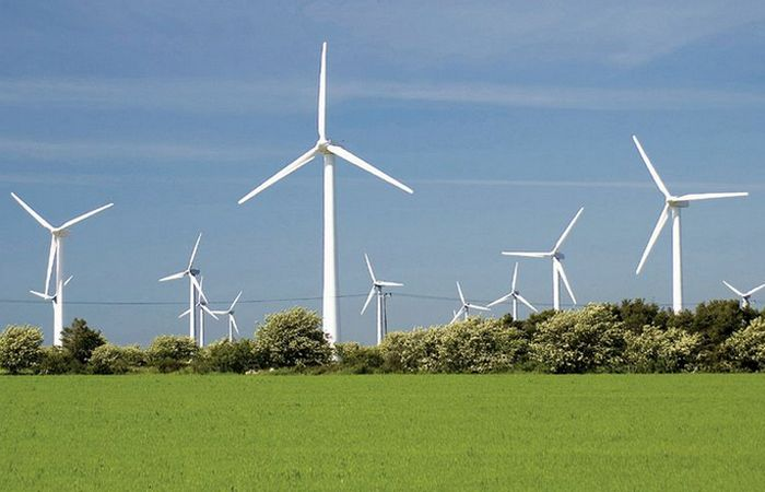 Ветровые турбины.