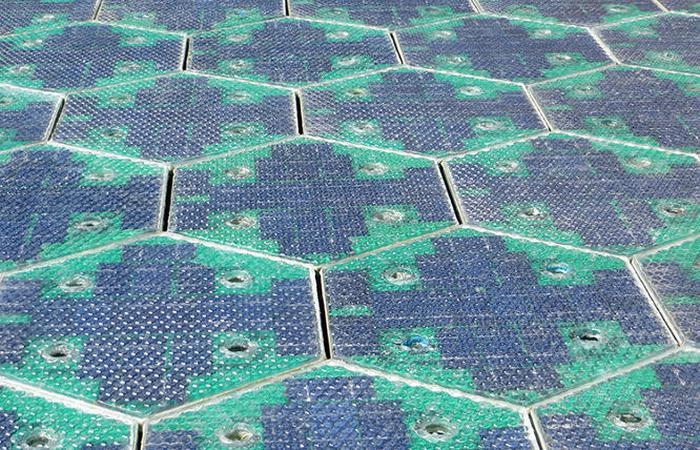 Дорожное покрытие из солнечных батарей.