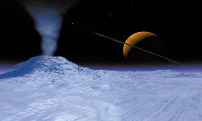 Красиво и интересно: гейзеры Южного полюса Энцелада.