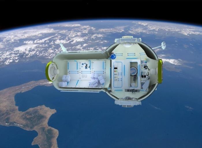 Космический отель - лучшее место укрыться от суеты.