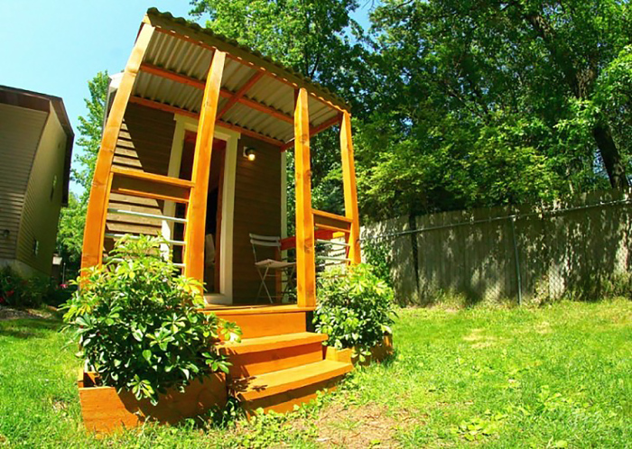 Огнеупорные и водонепроницаемые Orange Tiny Houses.