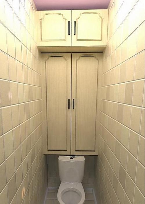 Место для хранения вещей: «Над туалетом».