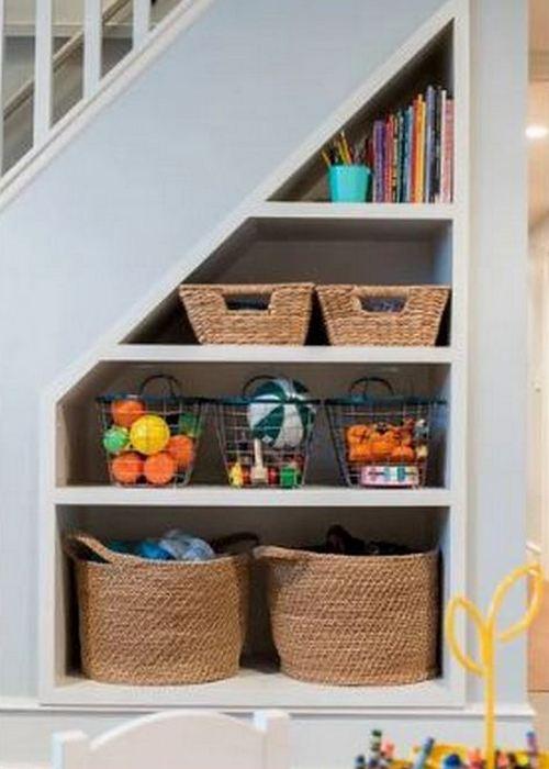 Место для хранения вещей: «Под лестницей».