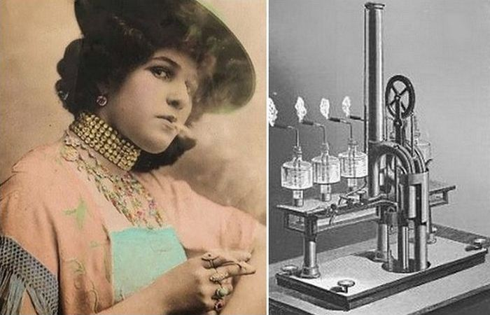 Нелепое изобретение: автоматическая машина для курения.