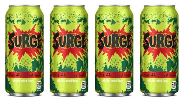 Surge - популярный безалкогольный напиток.