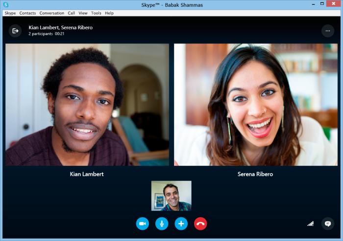 Skype соединяет людей.