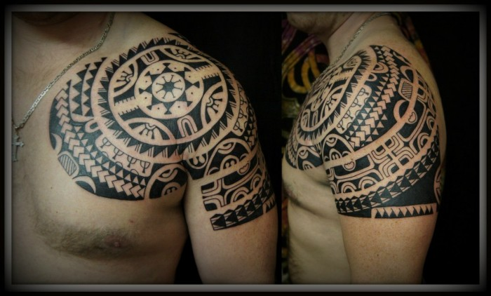 Полинезийские татуировки.