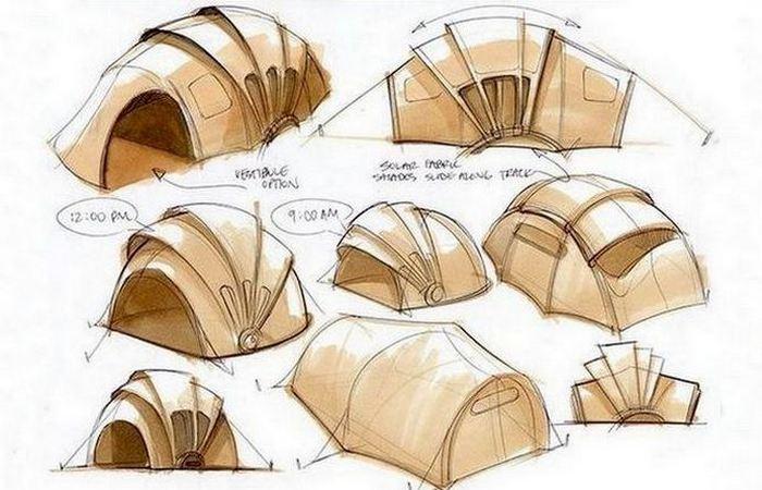 Концепт Orange Solar Tent.