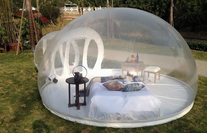 «Домик», который всегда со мной: палатка-пузырь.