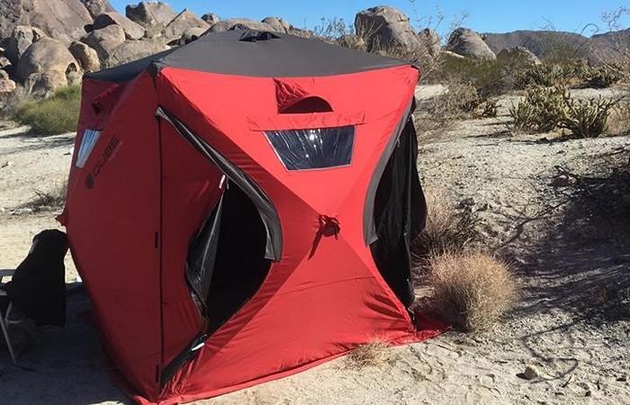 «Домик», который всегда со мной: палатка-деревня.