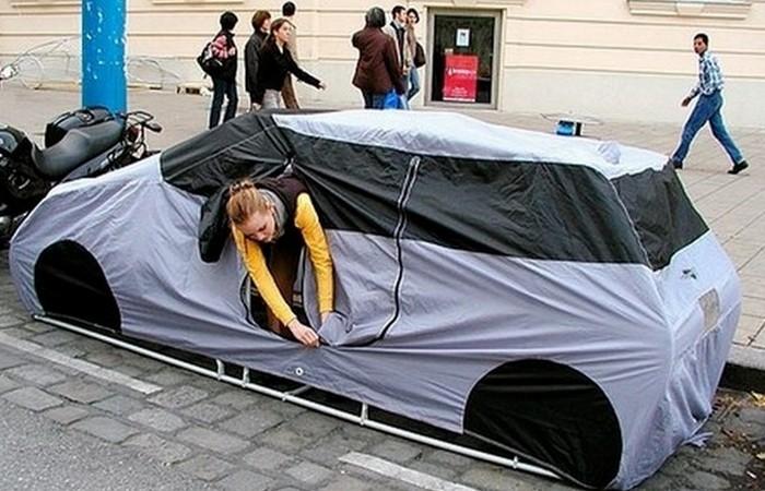 «Домик», который всегда со мной: палатка-автомобиль.