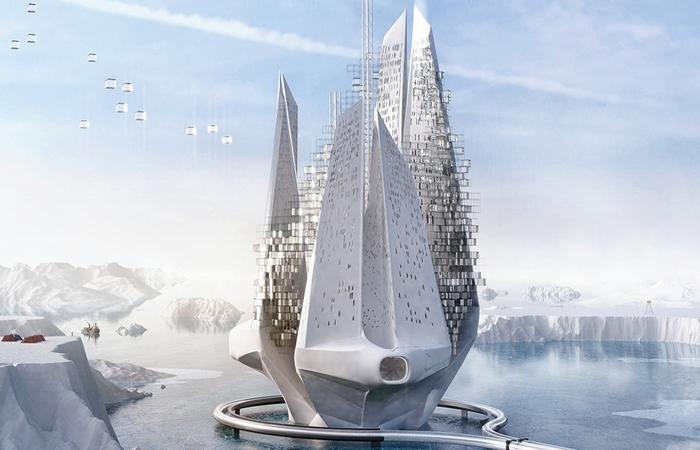 Космический концепт арктического экодома «Heal-Berg».