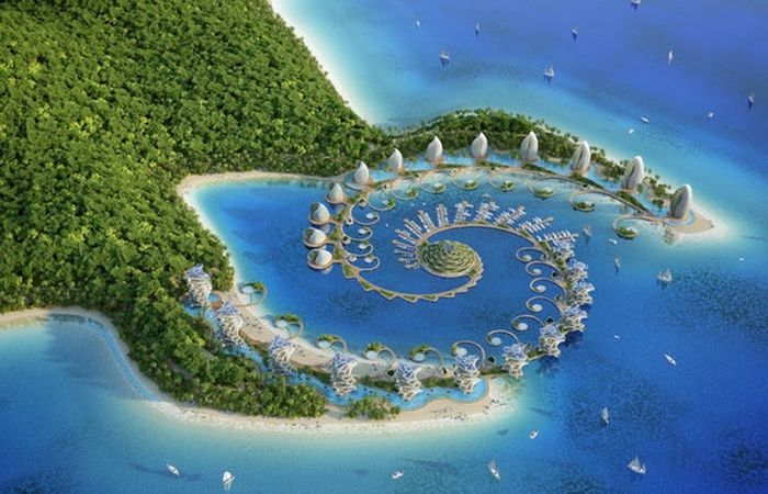 Вид сверху на «Nautilus Eco-Resort».