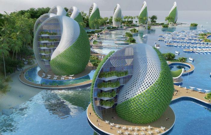 Вращающиеся здания «Nautilus Eco-Resort».