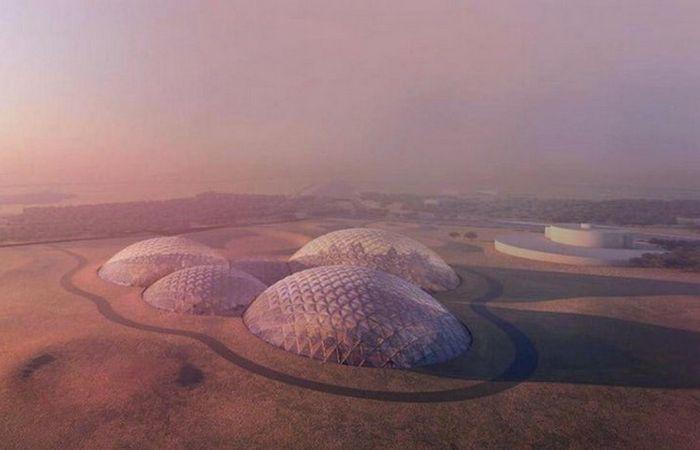 Проект действующей модели города на Марсе.