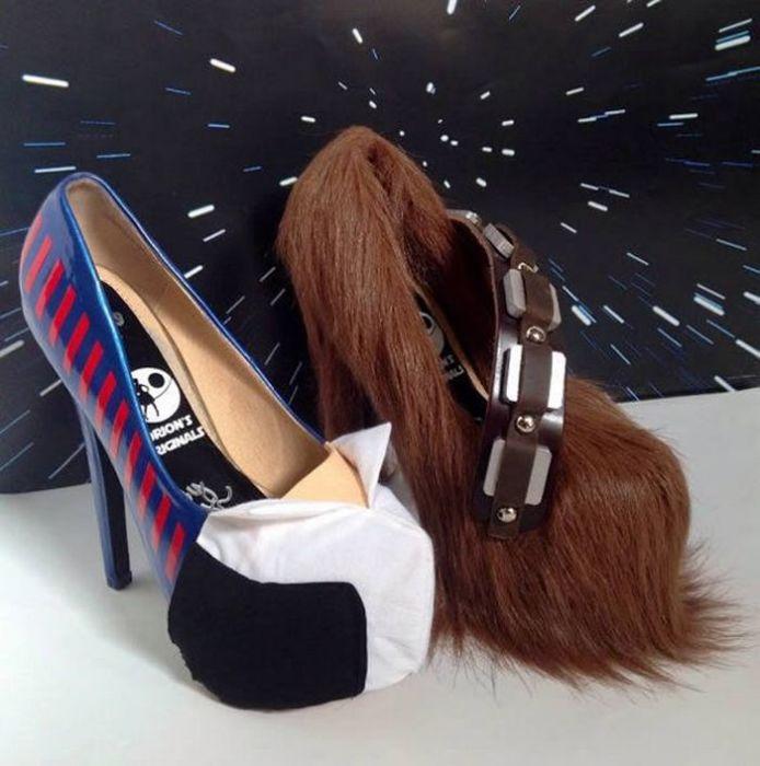 Туфли для поклонников *Звёздных войн*.