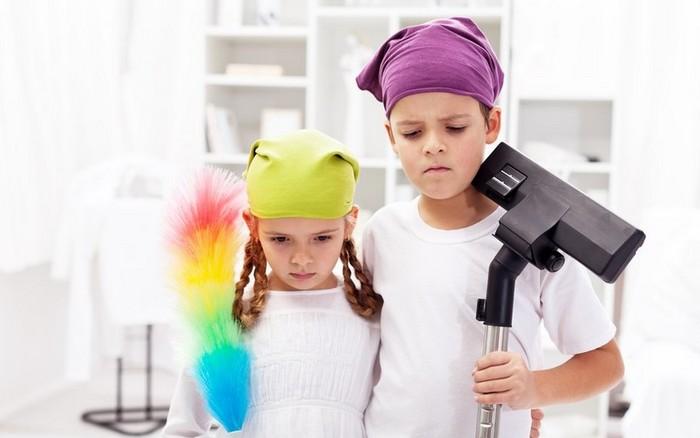 Детишки к уборке готовы.