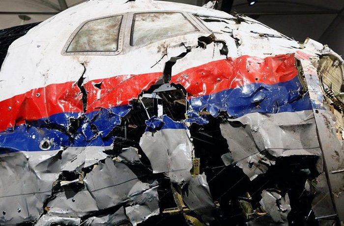 Самолёт после авиакатастрофы.