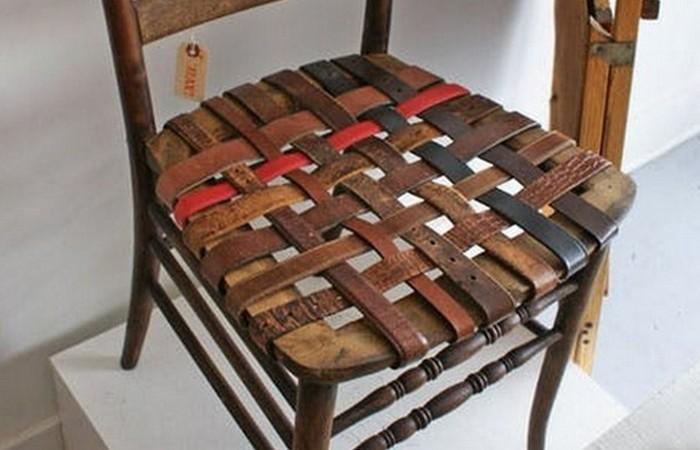 Полезный совет: сиденье стула можно переплести ремнями.