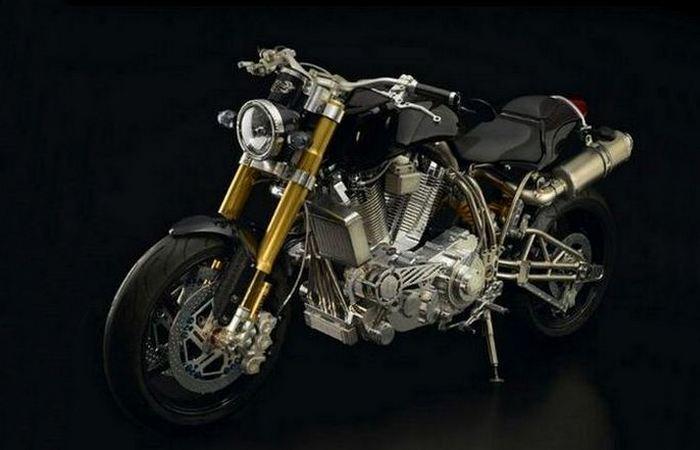 Вызывающая роскошь: мотоцикл «Ecosse Heretic Titanium».