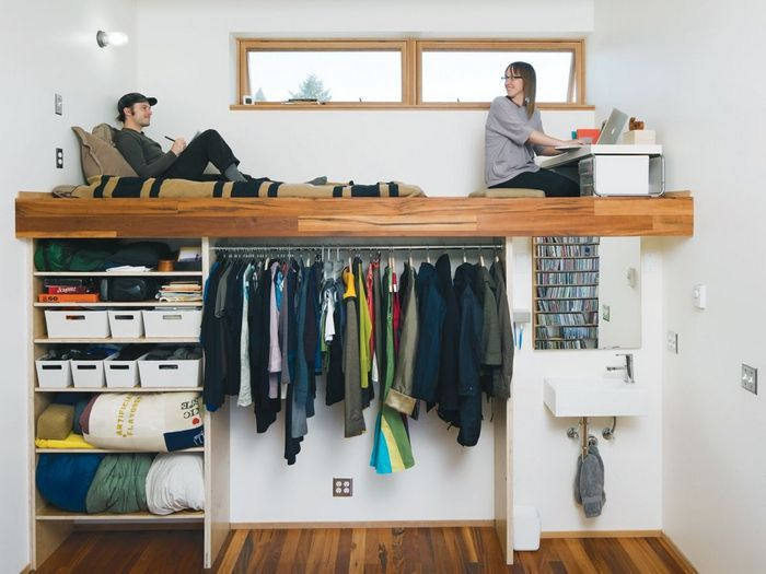 Дополнительное место для хранения вещей: незадействованное вертикальное пространство.
