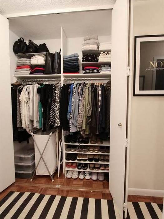 Правильно организованное вертикальное пространство в шкафу.