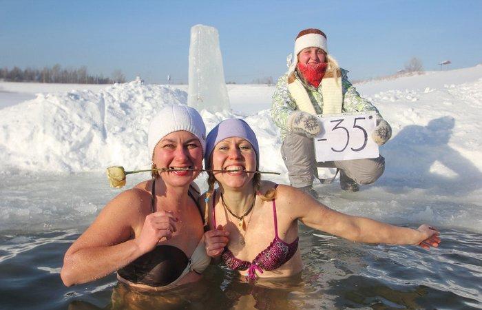 Купание в холодной воде: уменьшение стресса.