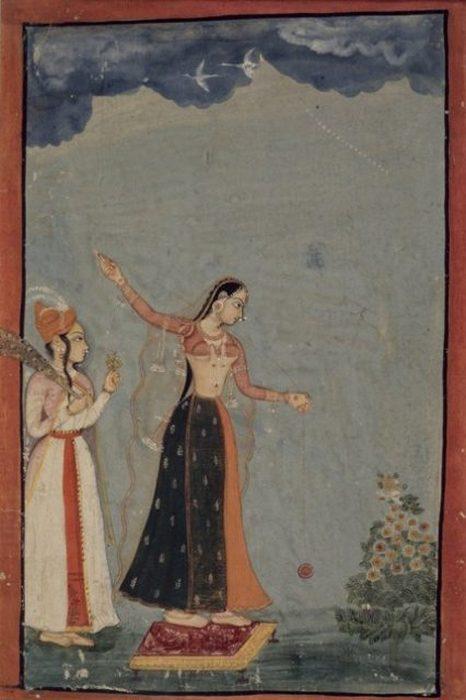 Женщина с йо-йо, Северная Индия (1770)