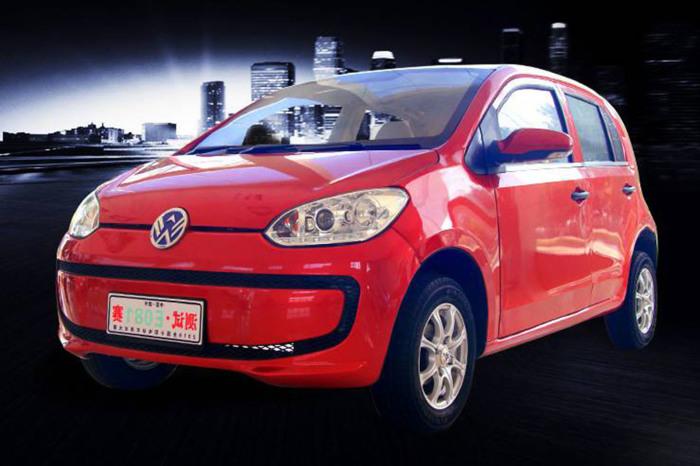 Электрокар Weikerui V7, «содранный» с Volkswagen e-Up.