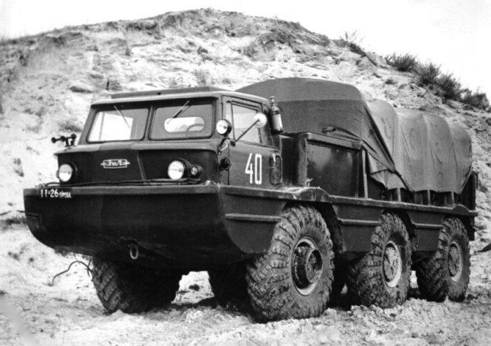 4-тонный грузовик-амфибия ЗИЛ-132П, 1969 год.