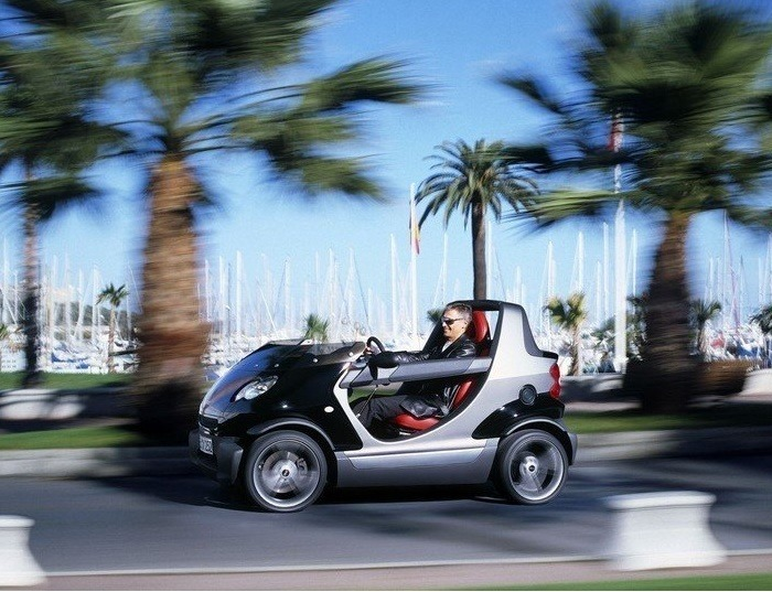 Компактный родстер Smart Crossblade оснащена 71-сильным двигателем. | Фото: cheatsheet.com.