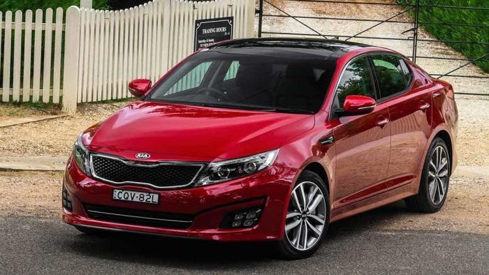 Среднеразмерный корейский седан бизнес-класса Kia Optima.   Фото: carsguide.com.au.