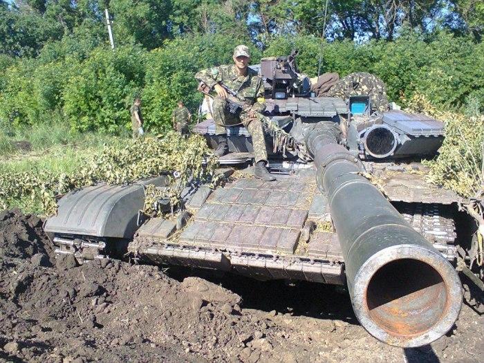 Хорошо видна гладкоствольная пушка танка Т-64. | Фото: topwar.ru.