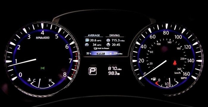 Приборная панель кроссовера Infiniti QX60 AWD. | Фото: cheatsheet.com.