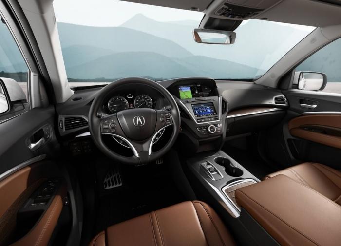 Салон японского кроссовера Acura MDX. | Фото: netcarshow.com.