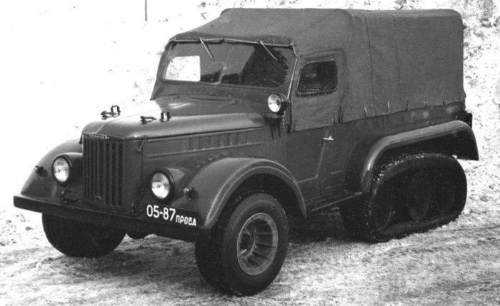 ЭНАМИ С-3МУ с пневмогусеницей от предыдущей модели. Экспериментальная модель.