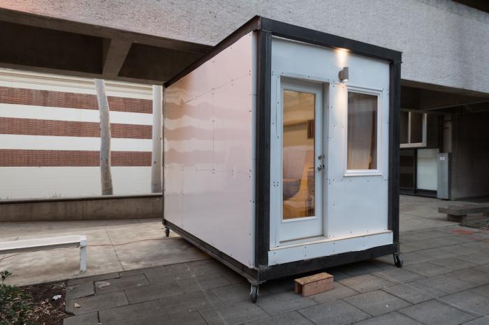 Сверхкомпактный домик для бездомных людей.
