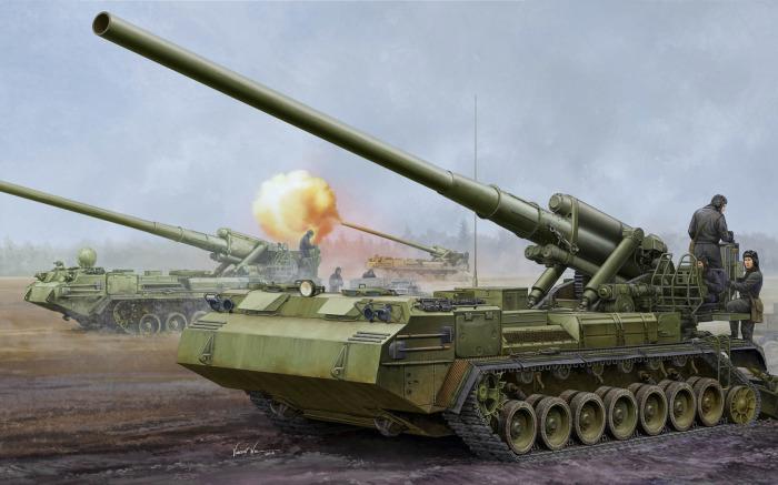 203-мм самоходная пушка 2С7 «Пион».