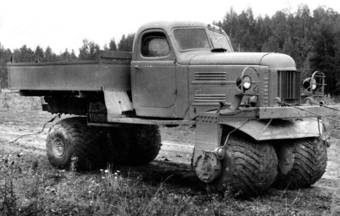 Внедорожник-грузовик ЗИЛ-132С на пневмоколесах, 1964 г.в.