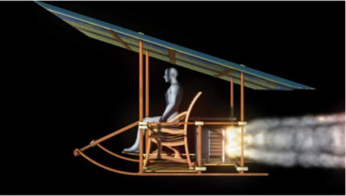 Модель ракетного кресла Вань Ху.