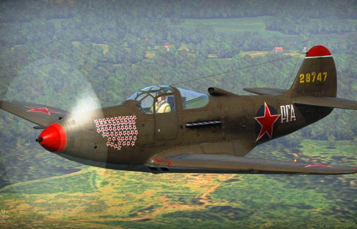 P-39 «Аэрокобра», на которой воевал советский ас Григорий Речкалов. | Фото: forum.warthunder.ru.