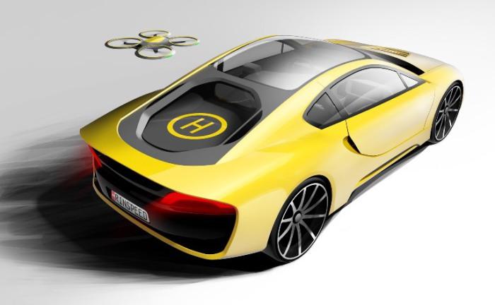 Мало какой BMW могут похвастать собственным дроном.