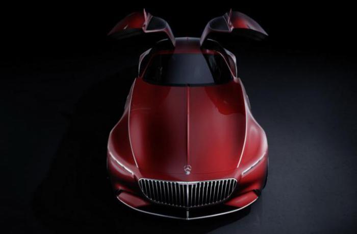 Концепт Mercedes-Maybach 6 с дверьми «крыло чайки».