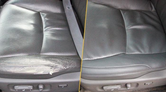 Небольшие потертости кожаных сидений еще можно замаскировать, но серьезные повреждения требуют дорогого ремонта.   Фото: amdplus.ru.