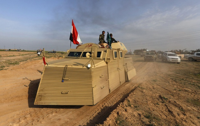 Бронированный «утюг» иракских военных.