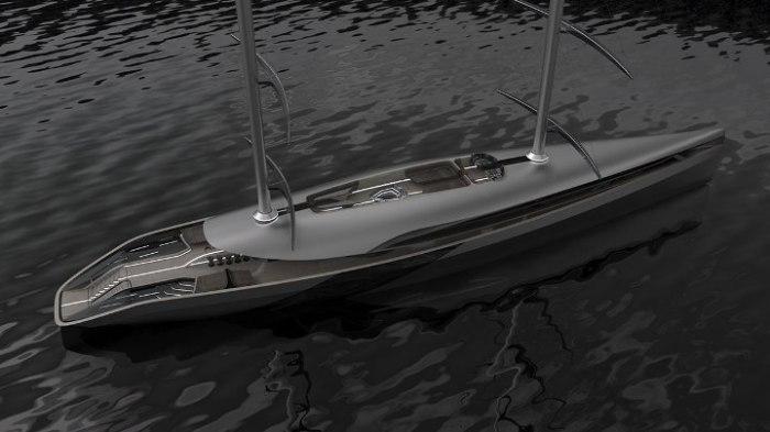 Простая компоновка яхты.