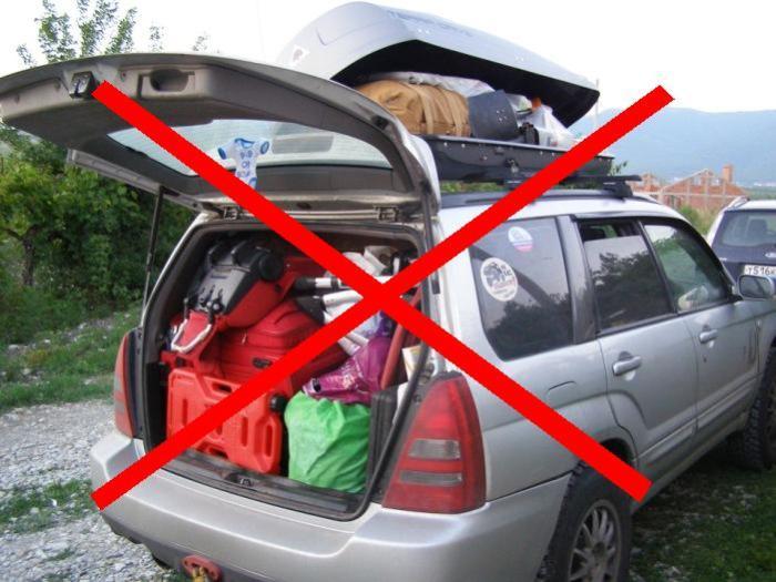 Перегрузка авто – лишний расход бензина. | Фото: drive2.ru.