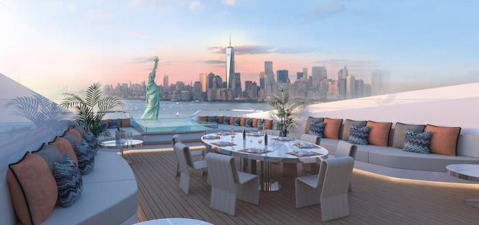 Самая верхняя палуба идеально подходит для обедов на свежем воздухе.
