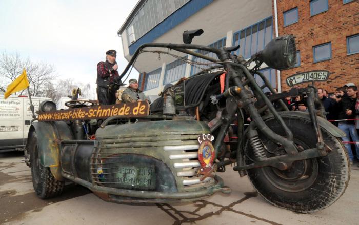 Советско-немецкий самодельный мотоцикл Panzerbike.