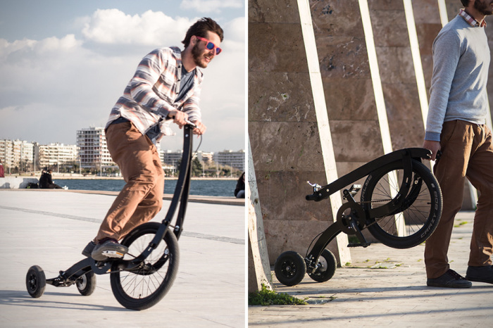 Складная конструкция улучшенной версии Halfbike.